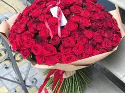 101 роза Алматы! Всегда свежие цветы! Низкие цены!
