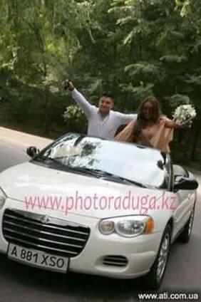 Аренда, прокат белого кабриолета Chrysler