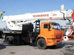 Автокран 40 тонн стрела 27,3м - шасси Урал, Камаз 6х4 Евро 4