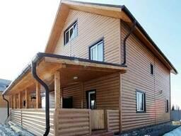 Блок-хаус металлический под имитацию бруса и бревна