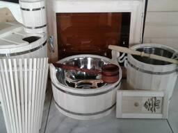 Бондарные изделия для бани из липы