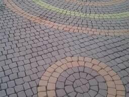 Брусчатка тротуарная Полукруг в прямоугольнике - фото 4