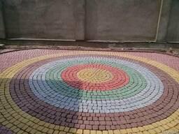 Брусчатка тротуарная Полукруг в прямоугольнике - фото 5