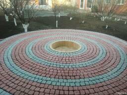 Брусчатка тротуарная Полукруг в прямоугольнике - фото 8