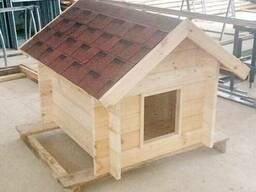Будка деревянная, внутренний размер 1х1.2 м