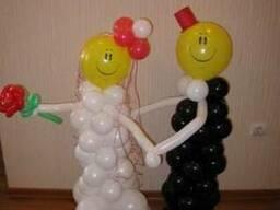 Букеты из шаров.Оформление шарами.Цветы из шаров.Клоуны.