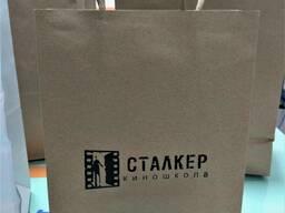 Бумажные белые и крафтовые пакеты Алматы