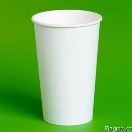 Бумажные стаканы одноразовые БЕЛЫЕ без печати