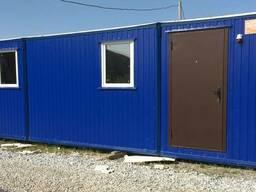 Бытовка строительная С 100/8, дверь-сейф, 75 уголок