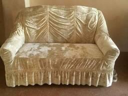 Чехол велюр диван и два кресла