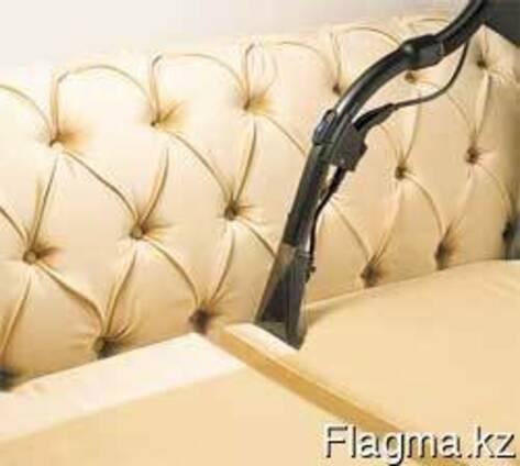 Чистка мягкой мебели и ковров на территории заказчика.