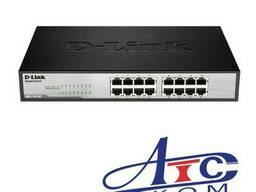 D-Link DGS-1016C/A1A Неуправляемый коммутатор с 16 портами 1