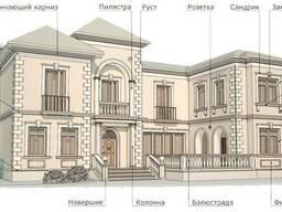 Декор для фасада, лепнина из пенопласта, изделия из пеноплас