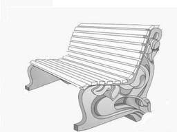 Декоративные бетонные скамейки.