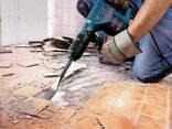 Демонтаж любой сложности, окна, двери, полы, кафель, стаж ра