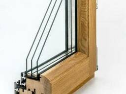 Дерево-алюминиевые окна из сосны Wooder Астана