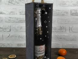 Деревянный ящик для бутылки