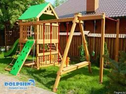 Детские комплексы из дерева в Астане