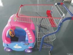 Детские машины-тележки для торговых центров