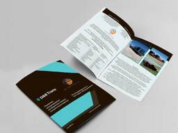 Дизайн печать каталогов, флаеров, буклетов, презентаций.