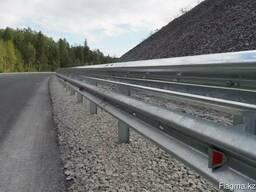 Дорожные металлические барьерные ограждения - фото 3