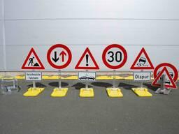 Дорожные знаки. Мобильные предупреждающие знаки. Прицепы - фото 5