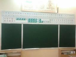 Доска школьная, меловая, настенная, трехстворчатая, 300х100