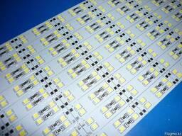 Двухрядная светодиодная алюминиевая полоса SMD 2835 168 диод