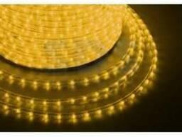 Дюралайт LED, свечение с динамикой (3W) - желтый, 24 LED/м,