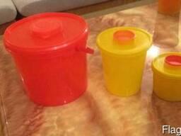 Емкость контейнер для утилизации мед отходов