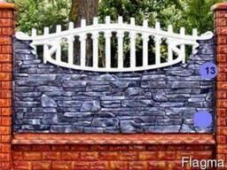 Евро-забор, декоративные бетонные ограждения, забор - фото 2