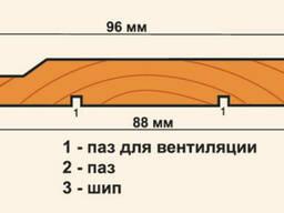 Евровагонка Липа Сорт В (длина 2,1м 2,2м 2,3м) - фото 2