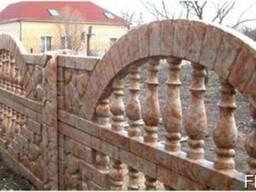 Еврозаборы, панельные ограждения из бетона.