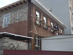 Фасадные панели: клинкерный кирпич/срез камня. Производство и монтаж