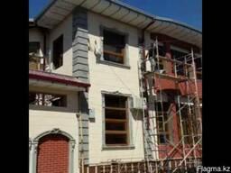 Фасадные работы, керамгранит травентин покраска