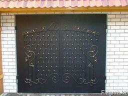 Гаражные, откатные металлические ворота в Астане