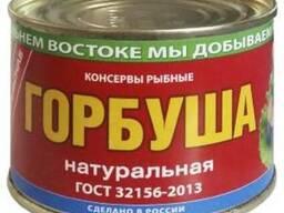 """Горбуша """"Примрыбснаб"""" натуральная б№6 245 гр 1/48 (708)"""