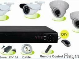 Готовый Комплект HD видеонаблюдения на 4 камеры