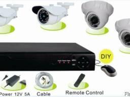 Готовый комплект видеонаблюдения на 4 камеры