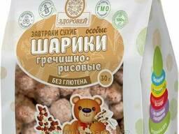 Гречишно-рисовые шарики особые без сахара 30Г. (Здоровей)