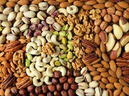Грецкий, арахис, фундук, миндаль, кешью, фисташки, кедровый