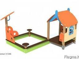 Игровой модуль песочница-домик