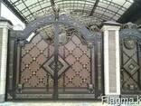 Изготовление металлических ворот с калиткой - фото 2