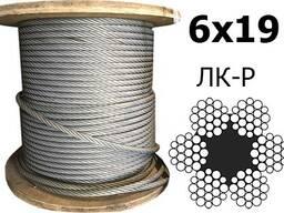 Канат стальной грузовой ГОСТ 2688-80 двойной свивки 6x19