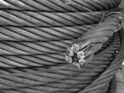 Канаты одинарной свивки спиральные 5.5x1.9x1.8 мм ЛК-О ГОСТ