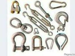 Канаты стальные, стропы, такелаж, захваты, комплектующие