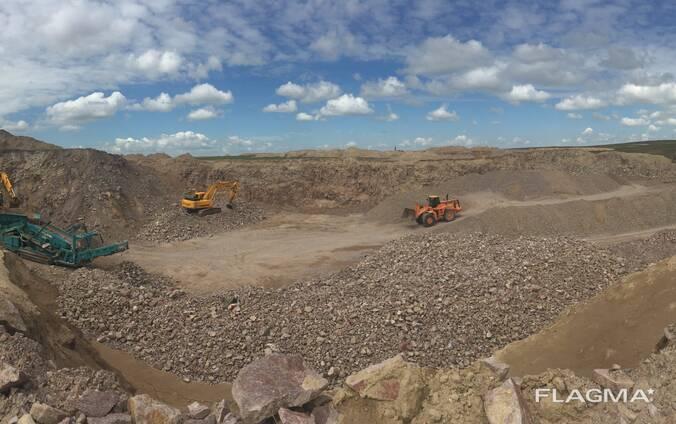 Карьер по добычи строительного камня в городе Капчагай