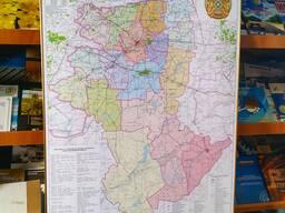 Карта Костанайской области, схемы Костаная, Рудного, Тобыла