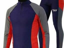 Комбинезон лыжный гоночный RAY, модель RACE, тёмно-синий/сер