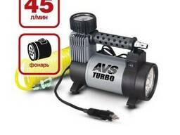 Компрессор автомобильный (насос для шин) 45 литров с фонарем